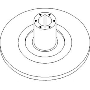 Picture of Sheave, Inner Pulley, Feeder House To Fit John Deere® - NEW (Aftermarket)