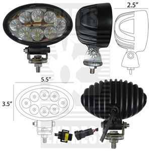 Picture of Oval LED Light To Fit John Deere® - NEW (Aftermarket)