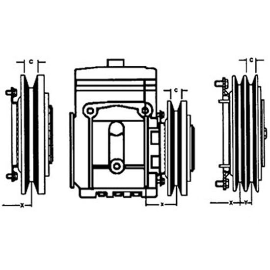 Picture of Air Conditioner, Compressor, Clutch To Fit Miscellaneous® - NEW (Aftermarket)